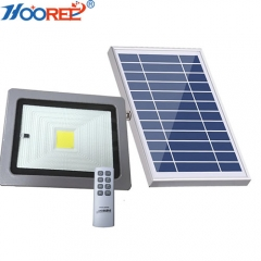 10W 20W integrated LED Remote Motion Sensor Solar Flood Light For Outdoor Lighting