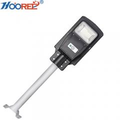 30W all in one PIR motion sensor remote solar street light outdoor with pole