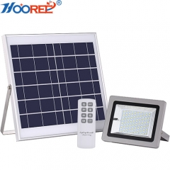 Hooree SL-386 LFP Battery IR Remote Control Outdoor Solar Flood Light with Timing Function