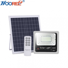 40W 60W 80W 100W 120W IP66 remote control outdoor twilight solar flood light for garden lighting