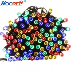 Hooree 17M 100LED Twinkle Light Christmas Decoration Solar Light with 8 modes