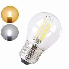 A15 Style Bulb G45 Mini LED Globe Bulb with Filament LED Tungsten Bulb 2W 4W E26 E27 Medium Screw Base 25W 40W Halogen Replace