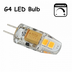 Dimmable G4 LED 1.5W 12V Bulb Light 150lm 360 Degree Beam Angle Lamp Support Electronic Transformer Pack-5