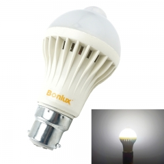 B22 LED Motion Sensor Light Bulb 5W Bayonet B22 with 50W Halogen Bulb Replacement for Washroom Hallway Cabinet Lighting