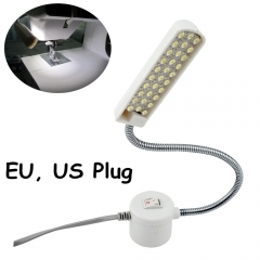 Gooseneck Sewing Machine Working Light 30 LED Working Lamp With Magnetic Mounting Base for All Sewing Machine Lighting