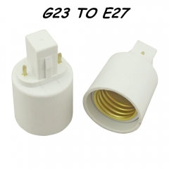 G23 to E27 Lamp Holder Converter G23 Socket Base for LED Halogen CFL Light Bulb Lamp Adapter G23 to E27, 10Pcs/lot