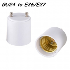 10PCS GU24 to E26 E27 LED Halogen Light Lamp Base Holder Socket Adapter Converter