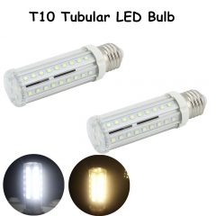 10W Medium Screw Base T10 Tubular LED Bulb  E26 E27 LED Corn Light Tubular Corn Bulb 60W Halogen E26 E27 Bulb Replacement-Pack of 2