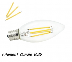 Super Quality 2W 4W 110V E17 LED Light Filament Candle Bulb Chandelier Decorative LED Torpedo Shape Lamp