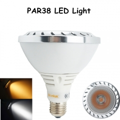 Aluminum PAR38 LED Spotlight Bulb 20W 1800lm CREE COB LEDs E26/27 Medium Screw Base Light with 150W Halogen Bulb Replacement