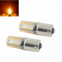 2-pack 3W 250lm DC10-20V BA15S LED Corn Light Bulbs 360 Degree Beam Angle Car Tail Turn Signal Light Bulb