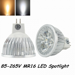 4x1W G5.3 Base 110V 220V MR16 LED Light Bulb Super Bright Engry Saving LED MR16 220V-Pack of 10