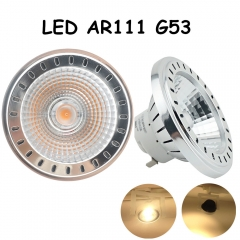 LED AR111 G53 12W AC 12-24V Light Bulb CREE COB Chip Led G53 Spotlight Bulb Recessed Ceiling Downlight Track Lighting Fixture