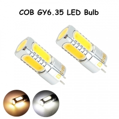 LED GY6.35 12V AC/DC Bulb Light 450lm 5 Watts COB Leds G6.35 Bulb Replace 35-50W Halogen Lamp for Crystal Chandelier Lighting- Pack of 2
