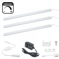 LED Under Cabinet Strip Light Kit - 0.3m/strip 12V Kitchen Under Counter Rigid Strip Bar Light for Closet, Bookcase, Jewelry Showcase Showcase Light