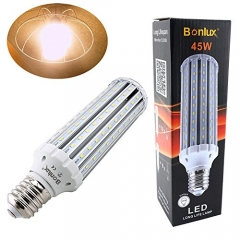 45W E40 LED Commercial Corn Bulb - 400W Halogen/200W CFL Replacement Corn Light For Garden Street Path Lighting High Bay LED Retrofit Bulb