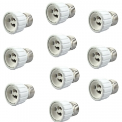 E27 to GU10 Adapter - Converts your Pin Base Fixture (E27) to Standard Screw-in Bulb Socket (10 pcs/lot, E27 - GU10)