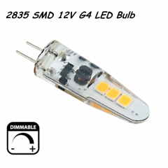 Dimmable 2W 12V 2835 SMD G4 LED Corn Bulb 360 Degree Beam Angle Led Capsule Light Bulb Support Electronic Transformer