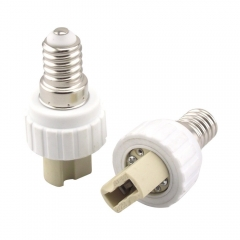 10PCS Free Shipping E14 to G9 Adapter Converter, E14 Socket Base for LED Halogen CFL Light Bulb Lamp Adapter E14 to G9