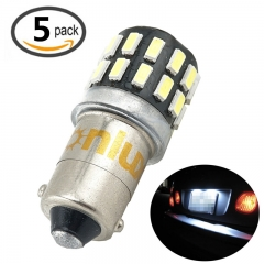 BA9s Miniature Bayonet LED Bulb 1445 1895 6253 64111 64113 T4W 12-24V 3W LED Car Light Bulb for License Plate Clearance Signal Courtesy Reading Light