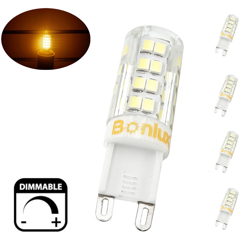 4 packs 4w g9 led light bulb dimmable crystal corn bulb 40w halogen equivalent g9 led bulb for. Black Bedroom Furniture Sets. Home Design Ideas