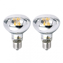 R80 E27 LED Filament Spotlight Bulb 60 Watt Downlight Replacement R80 Screw ES LED Reflector Lamp for Residential Commercial General Lighting
