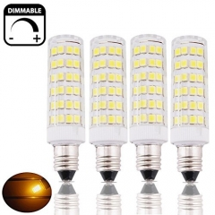 6W SES E14 LED Corn Lamp 50W Halogen Equivalent Small Edison Screw E14 LED Corn Light Bulb for Ceiling Fan, Chandelier, Indoor Decorative Lighting