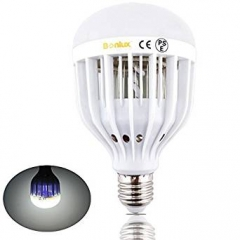 E27 LED Bug Zapper Light Bulb 10W Screw ES Base 2-in-1 Indoor Outdoor Mosquito Flies Wasps Moths Insects Zapper Killer LED UV Lamp for Home Kitchen