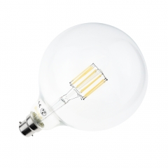 10W G125 B22 LED Filament Globe 125mm Bayonet Cap BC LED Antique Edison Filament Bulb 100 Watt Incandescent Replacement (Non-dimmable)
