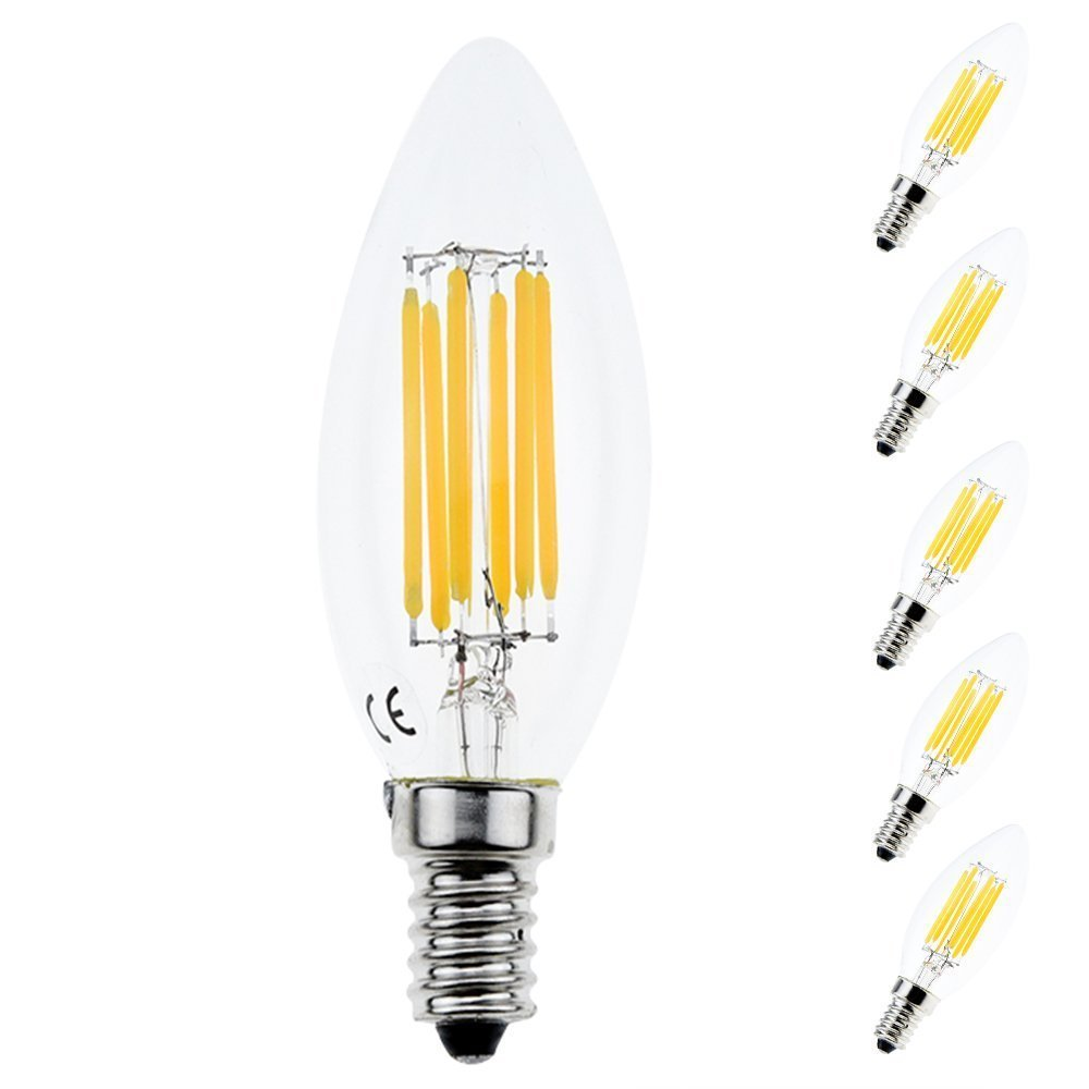 6w c35 edison base e14 led filament bulbs chandelie led bulb bathroom led light bulbs 60w. Black Bedroom Furniture Sets. Home Design Ideas