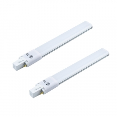 8W Gx23 2-Pin LED PL Retrofit Lamp 18W CFL Equivalent 750LM AC 85-265V PL Horizontal Recessed 180° Beam AngleLight Bulb (2-pack)