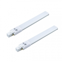 2-pack 8W G23 2-Pin LED Bulb 180 Degrees 18W Compact Fluorescent Lamp Equivalent Horizontal Plug G23 LED PL Retrofit Lamps (Remove/bypass the Ballast)