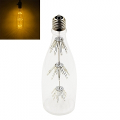 Wine Bottle Starry Decorative LED Bulb E26 Screw Base 3W Warm White 2200K Antique Romantic Decorative Bulb for Indoor Home/ Chirstmas/ Party