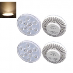 Gx53 LED Cabinet Light Bulb 5W Gx53 Replacement Bulb for Cabinet, Showcase, Exhibition, Shop showroom Lighting-Pack of 4