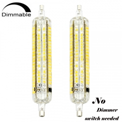 3 Way Dimmable J118 R7S Base LED Light Bulbs 10/5/2.5W R7S 118mm(4.65