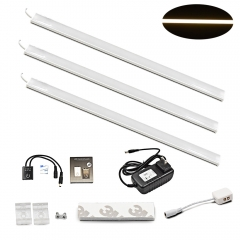 18W Linkable Under Kitchen Cabinet LED Lamps 12 Inches Hand Wave Activated Under-cabinet Lighting Strip Lights for Jewelry Case Bookcases Closet