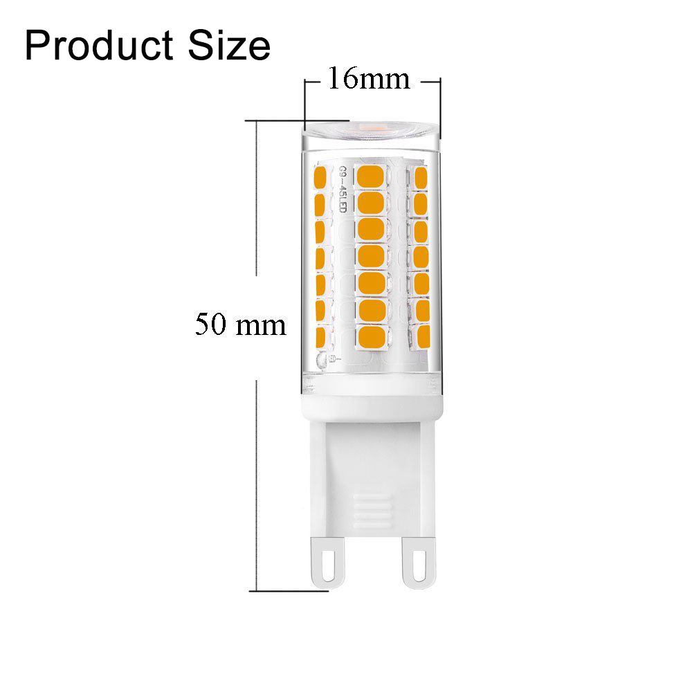 4w Dimmable Led G9 Light No Flicker Bulb 120v 220v T4 Jd