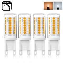 Dimmable G9 LED Bulb 35W Halogen Equivalent T4 JD Type Ceramic G9 Base Bulb,  No Strobe, Flicker Free LED G9 for Chandelier, Ceiling Fixture