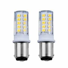 Bonlux 3.5W BA15d LED Light Bulb 24V Double Contact Bayonet SBC Replacement Lamp for  Motorhome Trailer  Lighting Bulbs (2-Pack)