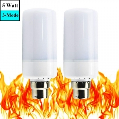 Flame Effect LED Light Bulbs B22 Bayonet Cap with Flickering Emulation Simulated Hot Fire Mood Lights Atmosphere Lamps