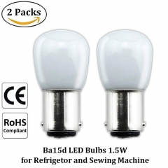 Ba15d LED Bulbs B15 1.5W, Fridge Bulb/Sewing Machine Bulb LED SBC Small Bayonet Cap 15W Incandescent Bulb Replacements
