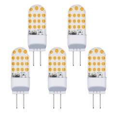 3.5W GY6.35 LED Bulb 12V AC/DC Bi-Pin Base GY6.35/G6.35 LED Light Bulb 35W Halogen Replacement (5-Pack)