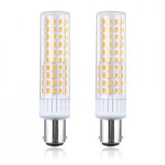 LED BA15D Light Bulb, 8.5W BA15D Double Contact Bayonet Base LED Bulb - 100W Halogen JD Type T4 Replacement Bulb for Chandelier Crystal(2-Pack)