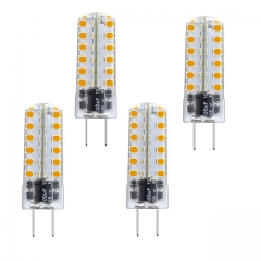 Aluxcia 3.5W AC/DC 12V G6.35 LED Light Bulb, G6.35/GY6.35 Bi-Pin Base T3 JC Type LED 35W Halogen Replacement Bulb ,4-Pack