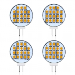 Bonlux 3W Side-Pin LED G4 Puck Light JC G4 Bi-Pin Base LED Disc 30W Equivalen Halogen Replacement Bulb (4-Pack)