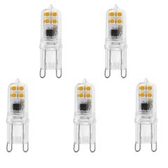 Bonlux LED 2W G9 Capsule Light Bulb Mini G9 Energy Saving Bulbs 18W 20W Halogen Bulbs Equivalent  (Non-Dimmable 5-Pack)