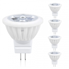Lustaled Dimmable LED MR11 GU4 Light Bulbs G4/GU4 Bi-Pin Base LED Bulb 4W Ceramic LED Spotlight Lamp 35W Halogen Replacement(4-Pack)