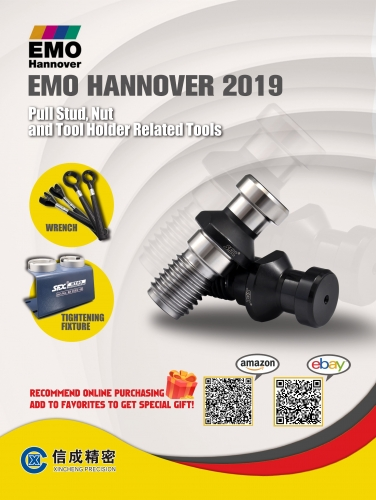 SFX | Pull Stud, Nut, Tool Holder Related Products - will be unveiled at EMO Hanover 2019