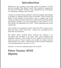 Peter Turner - New York Lecture Notes
