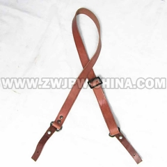 German WW2 Army AK-47 Real Leather Strap Brown